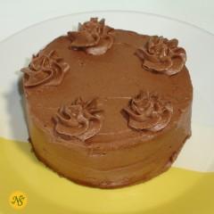 Vanilla Cake with Chocolate Mocha Frosting