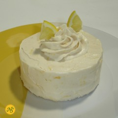Lemon Cake with Whipped Lemon Frosting